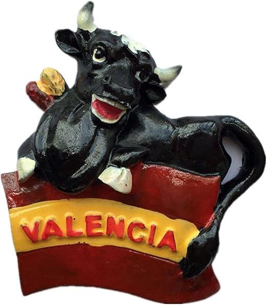 Imán para nevera con recuerdo 3D de Valencia España para decoración del hogar y la cocina: Amazon.es: Hogar