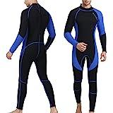 OMGear Wetsuit Men Women 3mm Neoprene Full Body UV Protection One Piece Long Sleeves Scuba Diving Suits Back Zipper Swimsuit