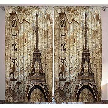 Paris Decor for Bedroom Curtains City Decor Living Room Decorations Eiffel  Tower Accessories in French Style. Amazon com  Paris Decor for Bedroom Curtains City Decor Living