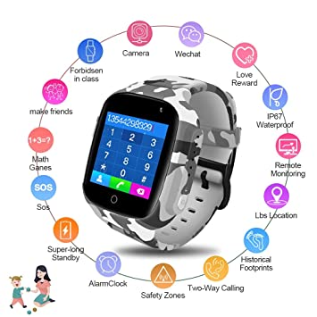 JKFGDYIMNFS Reloj Inteligente Smart Watch Kids GPS WiFi ...