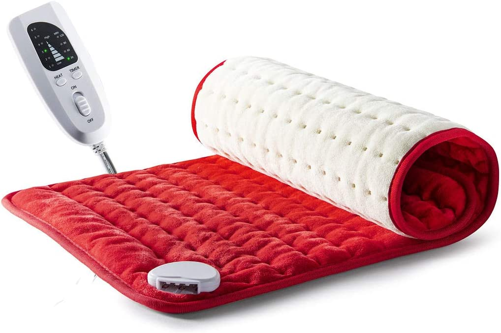 """Heating pad - Electric Heating pad - Best Heating pad for Back Pain and Cramps Relief - 2 Hour auto Off - Measures 24"""" X 12"""" - Moist Heating pad with Many Adjustable Setting - Heats Fast"""