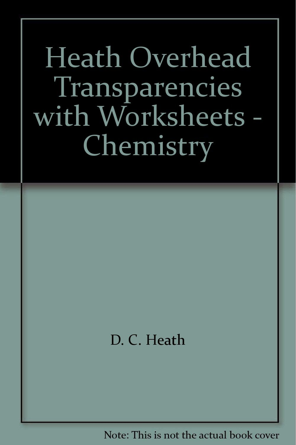 Worksheets D.c Heath And Company Worksheets heath overhead transparencies with worksheets chemistry d c amazon com books