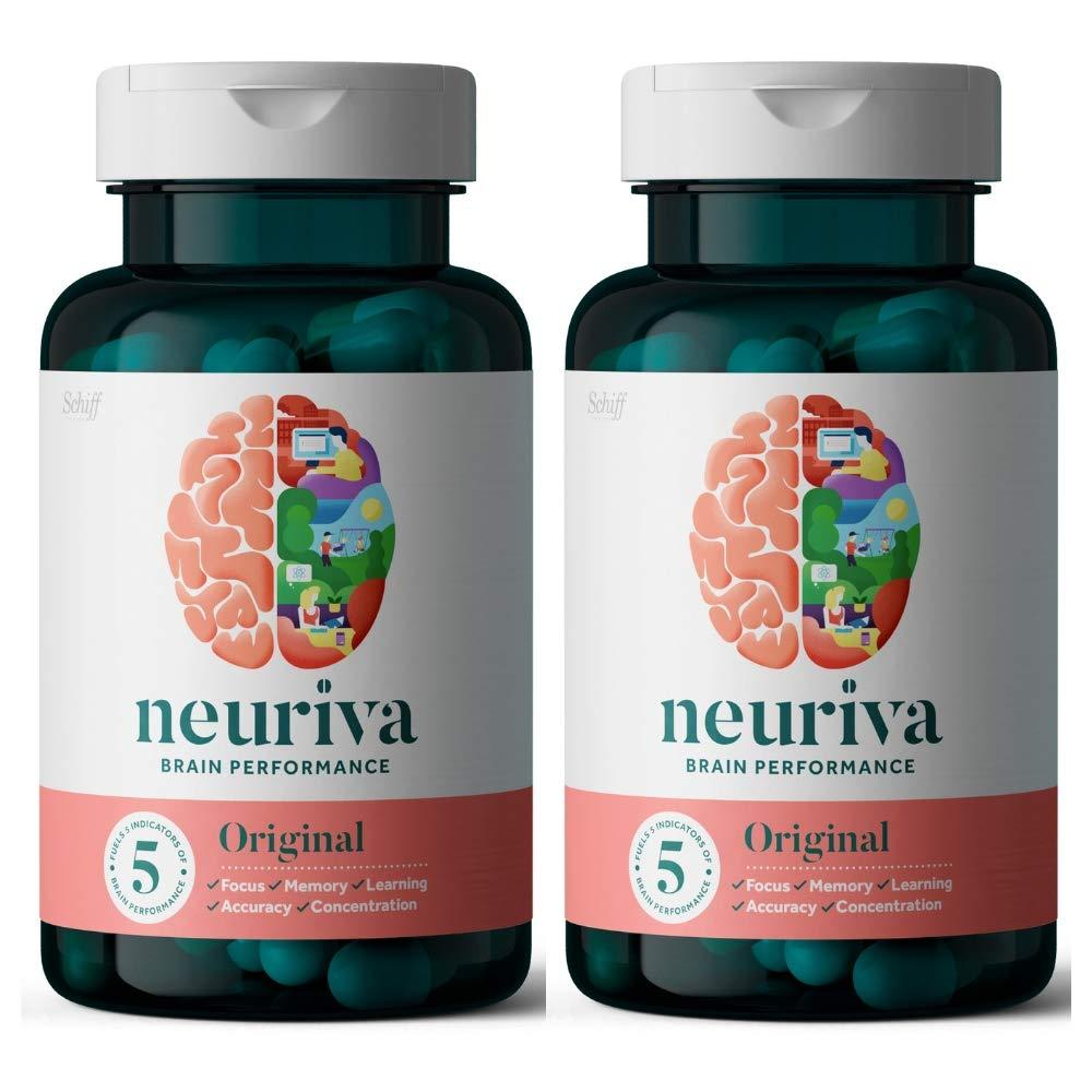 Fast-Acting Brain Support Supplement (Neuriva Original, 60 Count)