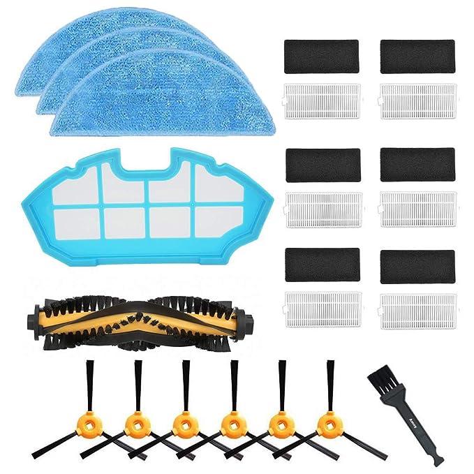 ... Cepillos Laterales+3 * paño+1 * Cepillo Principal+1 * Filtro primario,Compatible con Conga Excellence 990 aspiradora robótica: Amazon.es: Hogar