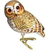 Old World Christmas Pygmy Owl Glass Blown Ornament