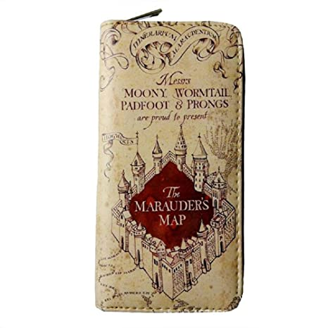 Monedero Billetera de Harry Potter Mapa del Merodeador Beige ...