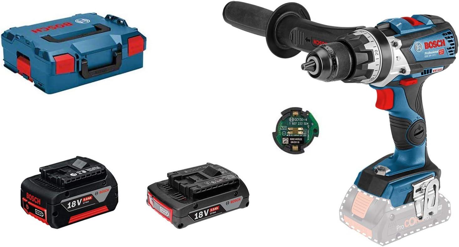 Bosch Professional Taladro percutor inalámbrico, 18V System GSB 18V-85 C (par máximo: 110 Nm, i...