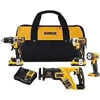 DEWALT XR 4-Tool 20-volt Max Brushless Power Tool Combo Kit