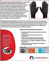 Thermoskin Full Finger Arthritis Gloves, Black, Small