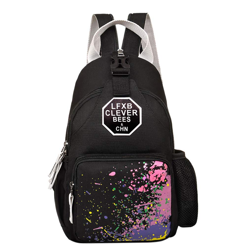 Lightweight Backpack for School, Yezijin Men &Women 's Chest Pack Single Shoulder Messenger Leisure Bag Backpack Large Capacity Backpack for School Teenager Girl Boy Under 10 Dollars