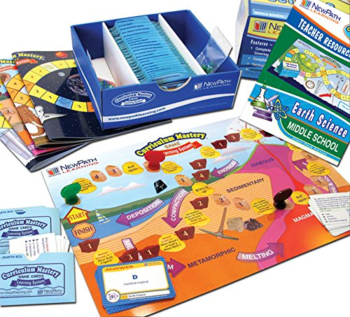 NewPath Learning Earth Science Review Curriculum Mastery Game, High School, Class Pack