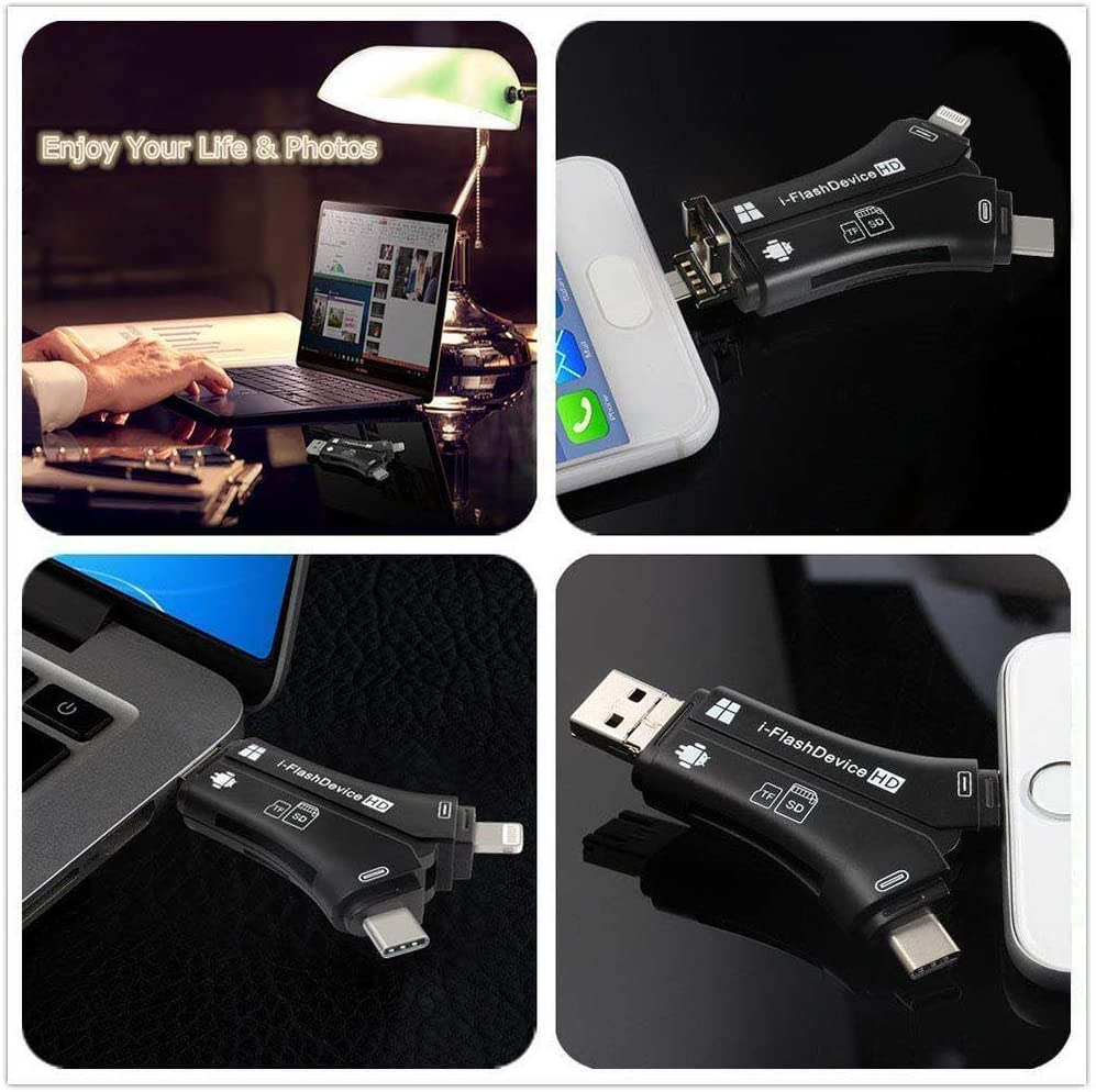 PC Black SD & Micro SD Romsion Electronics 4 in 1 iPhone ...