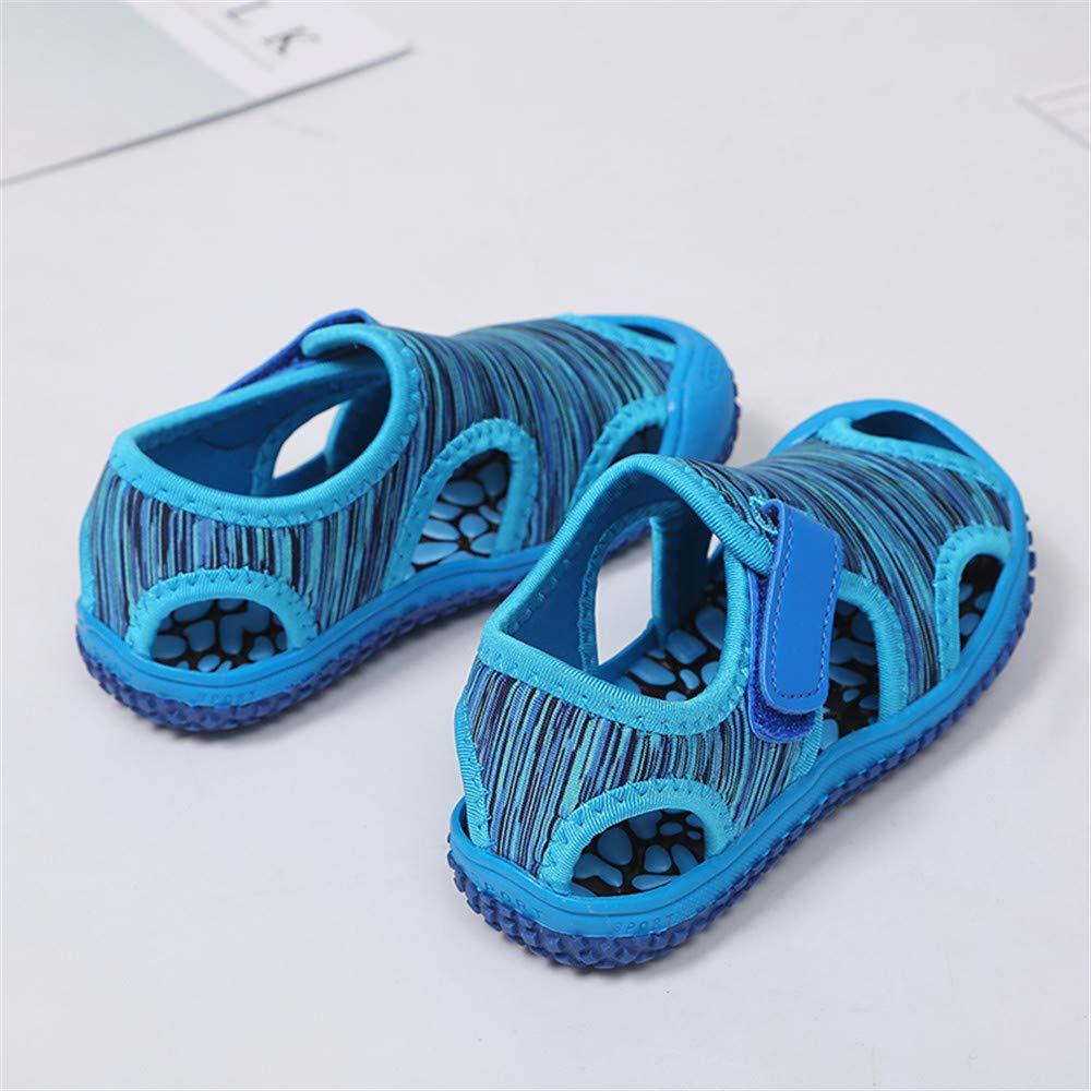 Zapatos para Ni/ños Beb/és Verano Deportivas Sandalias de Punta Cerrada Zapatillas de Trekking y Senderismo Unisex Rosado Azul Tama/ño 21-31 EU