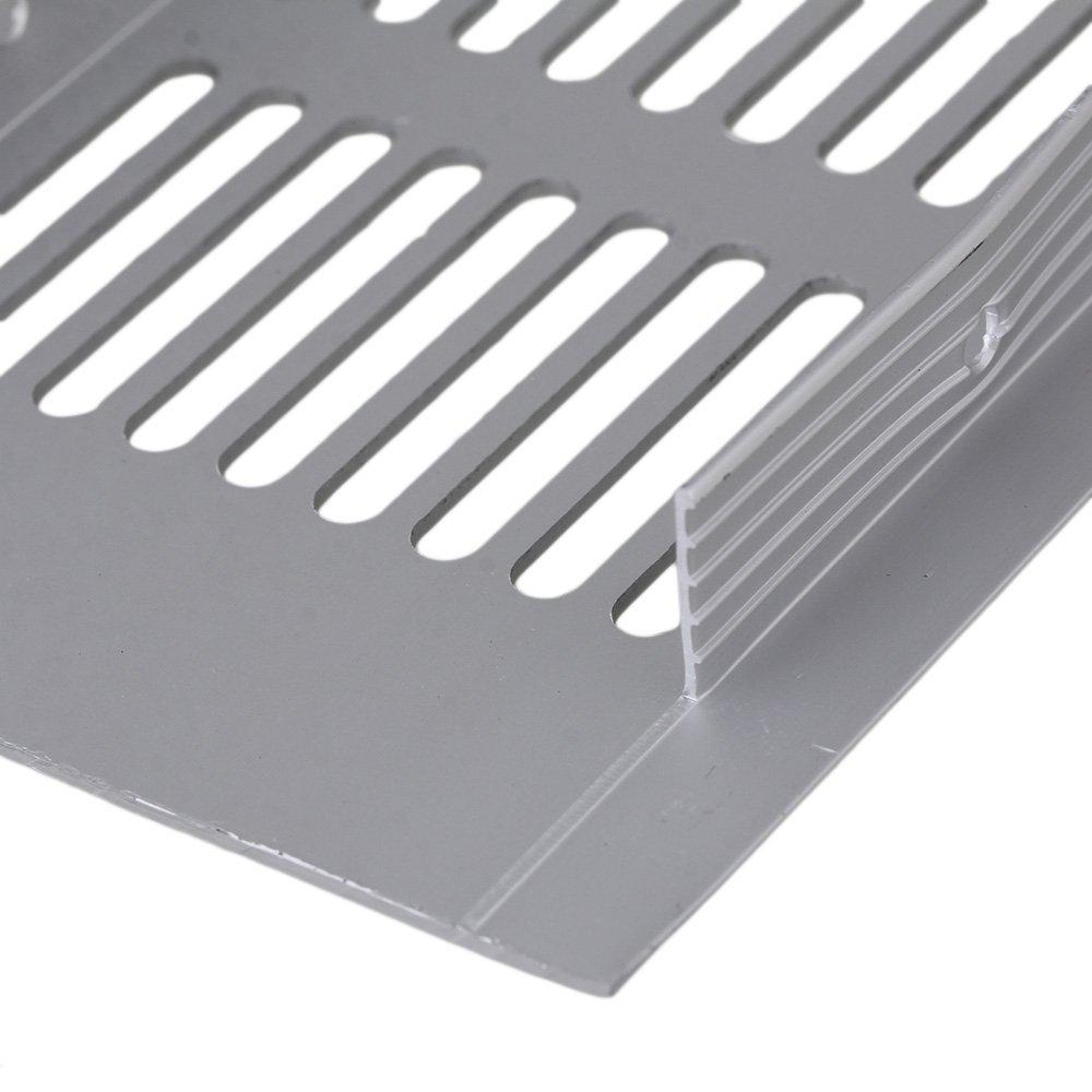 BQLZR 225mm Alumbrador de aluminio cuadrado de plata Respirable Ventilaci/ón Puente Placa Grille de ventilaci/ón para armarios Paquete de 2 pa/ños