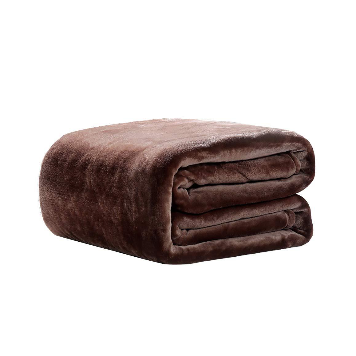 MLX Wirft Decken, Decken Sind Im Herbst Verdickt Und Winterdecken Handtücher Sind Nickerchen Korallen Samt Decke Klimaanlage Ist Braune Blätter 150 × 200 cm