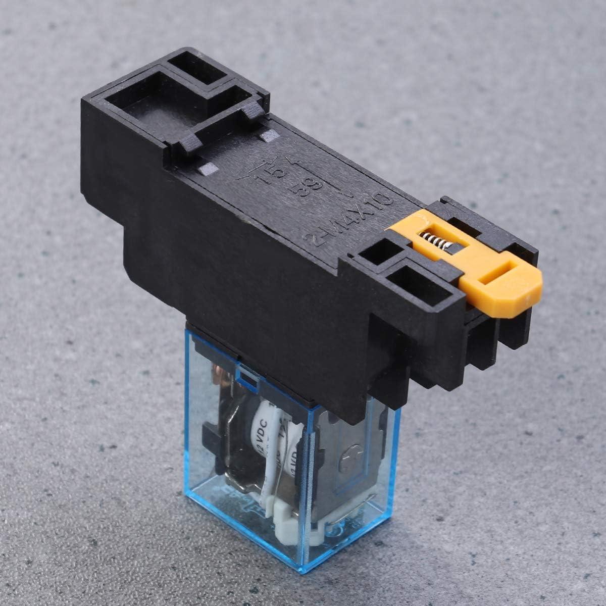 Hemobllo Kleines Hilfsrelais-Kit DC 12V passt sich automatisch der Basis f/ür den professionellen Gebrauch an 8-polig