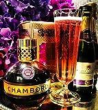 Congratulations Prosecco & Chambord Rasberry Liqueur + 2 Champagne Flutes Boxed - Perfect Gift