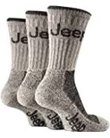 Mens Stone 3 Pair Luxury Jeep Terrain Walking Hiking Socks 6-11 uk, 39-45 eur