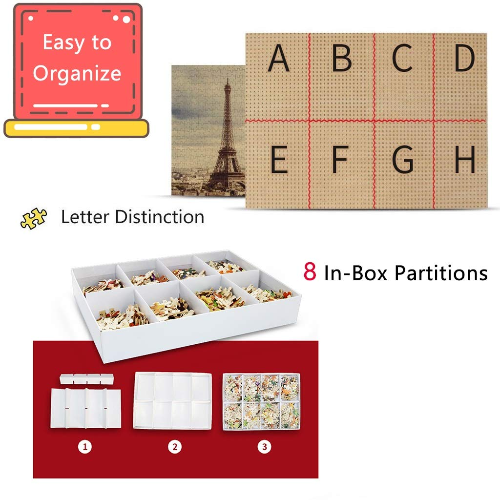 Kinder-Puzzle aus Holz Puzzle, Erwachsene Dekompression Spielzeug Dekorative Malerei-Cartoon-Charakter P5/6 (Color : 1500p((No partition))) 500p((no Partition))