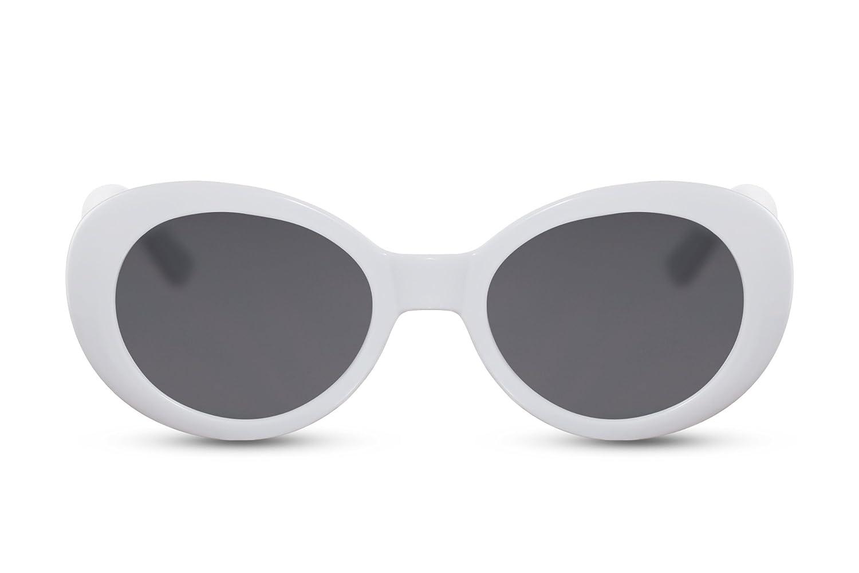 0d0c54ba921c11 Cheapass Lunettes de soleil Vintage Verres Blancs Fumés Kurt Cobain Lunettes  Protection UV400  Amazon.fr  Vêtements et accessoires