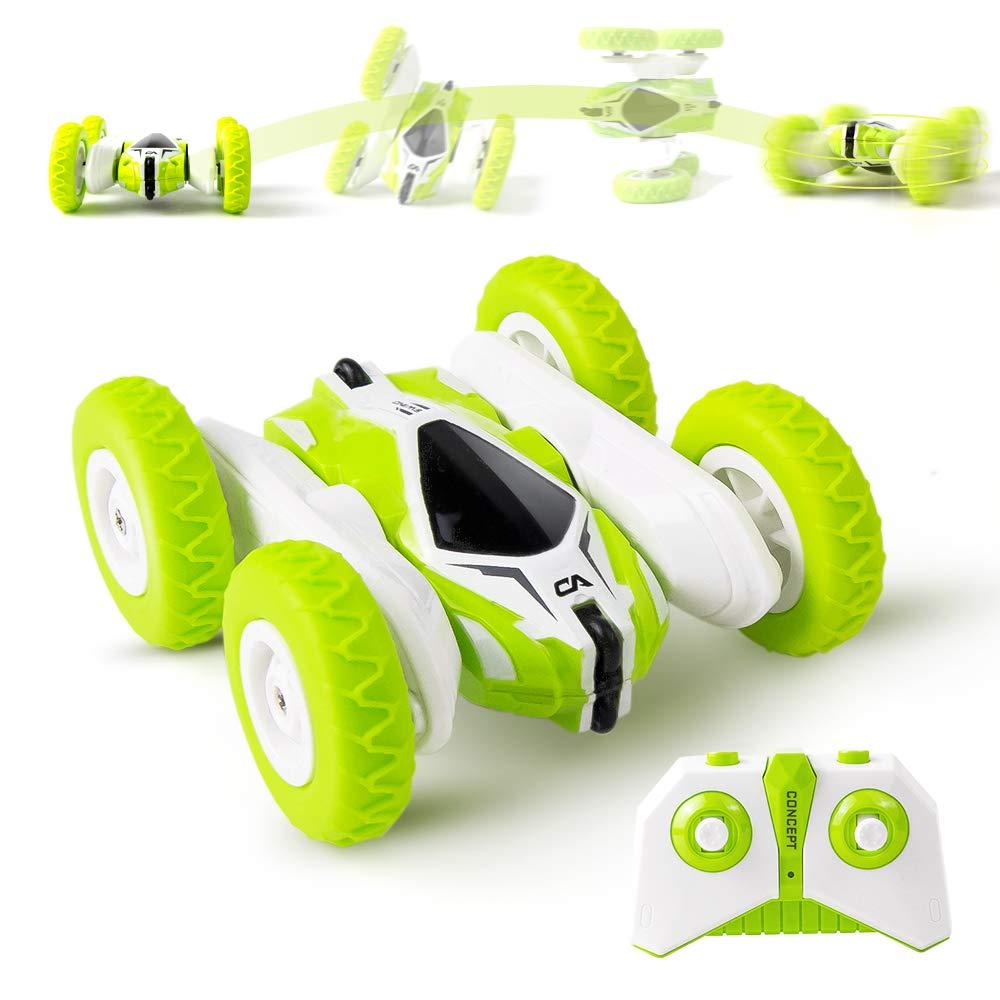 BBLIKE Remote Control Car 2.4GHz 4WD Stunt Car 360/° Spins /& Flips Off-Road Racing Car for Kids Boys /& Girls