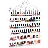 DAZONE Nail Polish Organizer Wall Rack Hold 120 Bottles Nail polish Shelf White