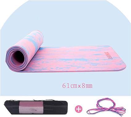 Amazon.com : 7Mm TPE Non-Slip Yoga Mat for Fitness Exercise ...