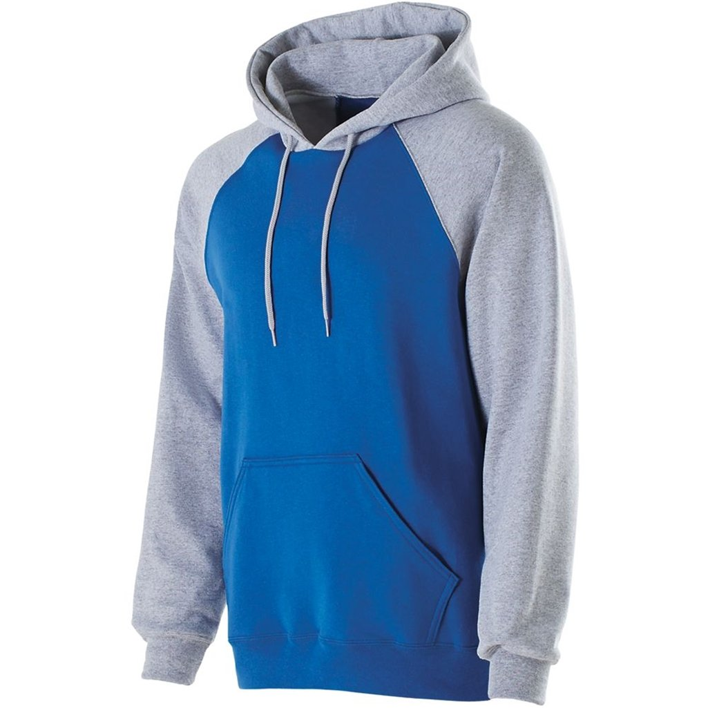 Holloway Youth Banner Hoodie (Large, Royal/Athletic Heather) by Holloway