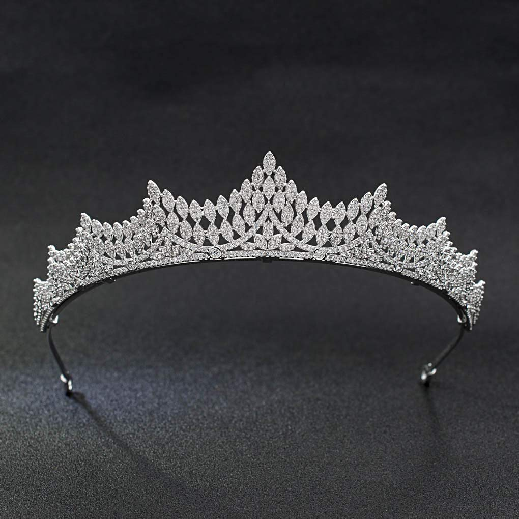 Classic Crystals CZ Cubic Wedding Bridal Tiara Crown Women Hair Accessories Jewelry CH10039 by SEPBRIDALS