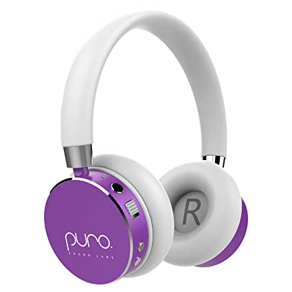 a448d999a6f Amazon.com: Puro Sound Labs BT2200 Kids Volume-Limiting Over-Ear Wireless  Headphones (Purple): Home Audio & Theater