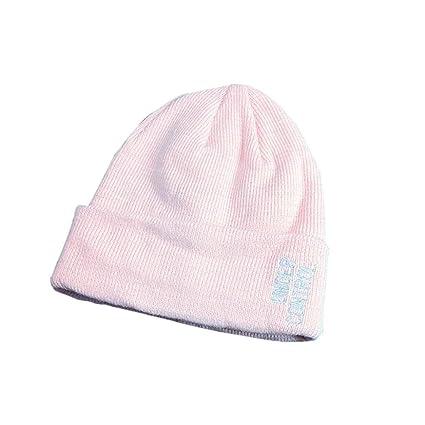 fe4d4c14 SUKEQ Unisex Cuffed Skull Hat, Winter Warm Letter Printed Beanie Hat  Crochet Snow Ski Cap