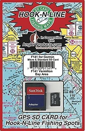Vermillion bahía GPS Mapa Tarjeta SD con pesca Hotspot ...