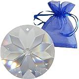 Cristallo al sole, diametro 40 mm, in elegante sacchetto regalo - Estremamente brillante! - Esclusivo - Disco di cristallo - Cristallo arcobaleno - Feng Shui - Esoterico - Decorazione per finestra - Sfaccettato - Cristallo - Suncatcher