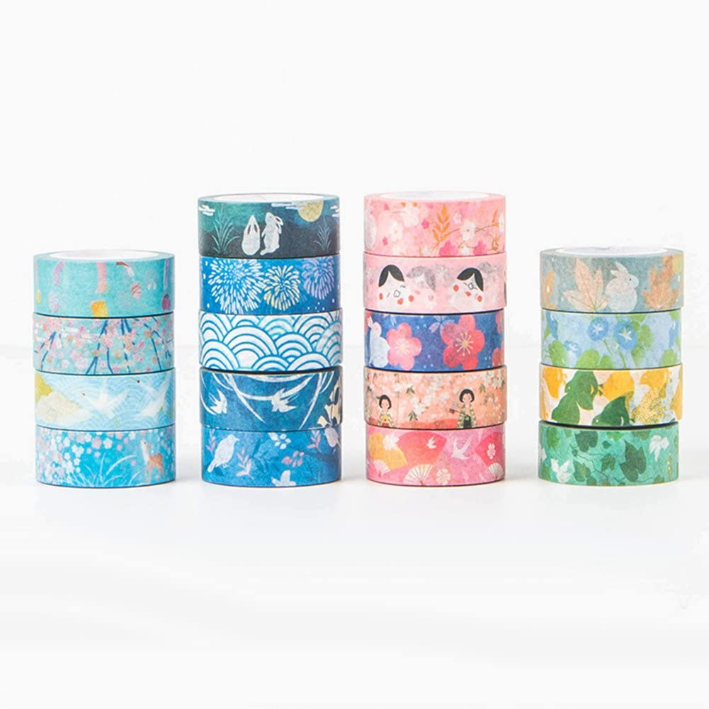 Easy to Tear Without Residue Gsdviyh36 Japanese Style Washi Tape Decorative DIY Scrapbooking Masking Tape Office Supply Multi-Style 7#