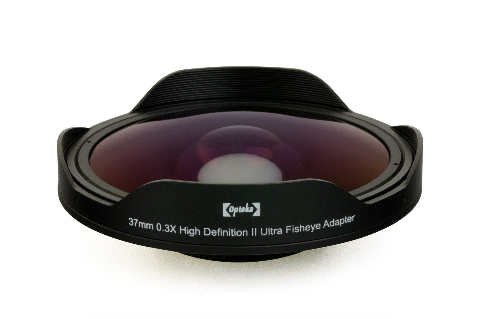 Opteka OPT-SC37FE Platinum Series 0.3X HD Ultra Fisheye Lens for 25mm, 30mm, 30.5mm & 37mm Digital Video Camcorders by Opteka