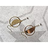 TKHNE Customization niche original geometric cut transparent crystal drop earrings earrings 925 gold-plated Harmonie