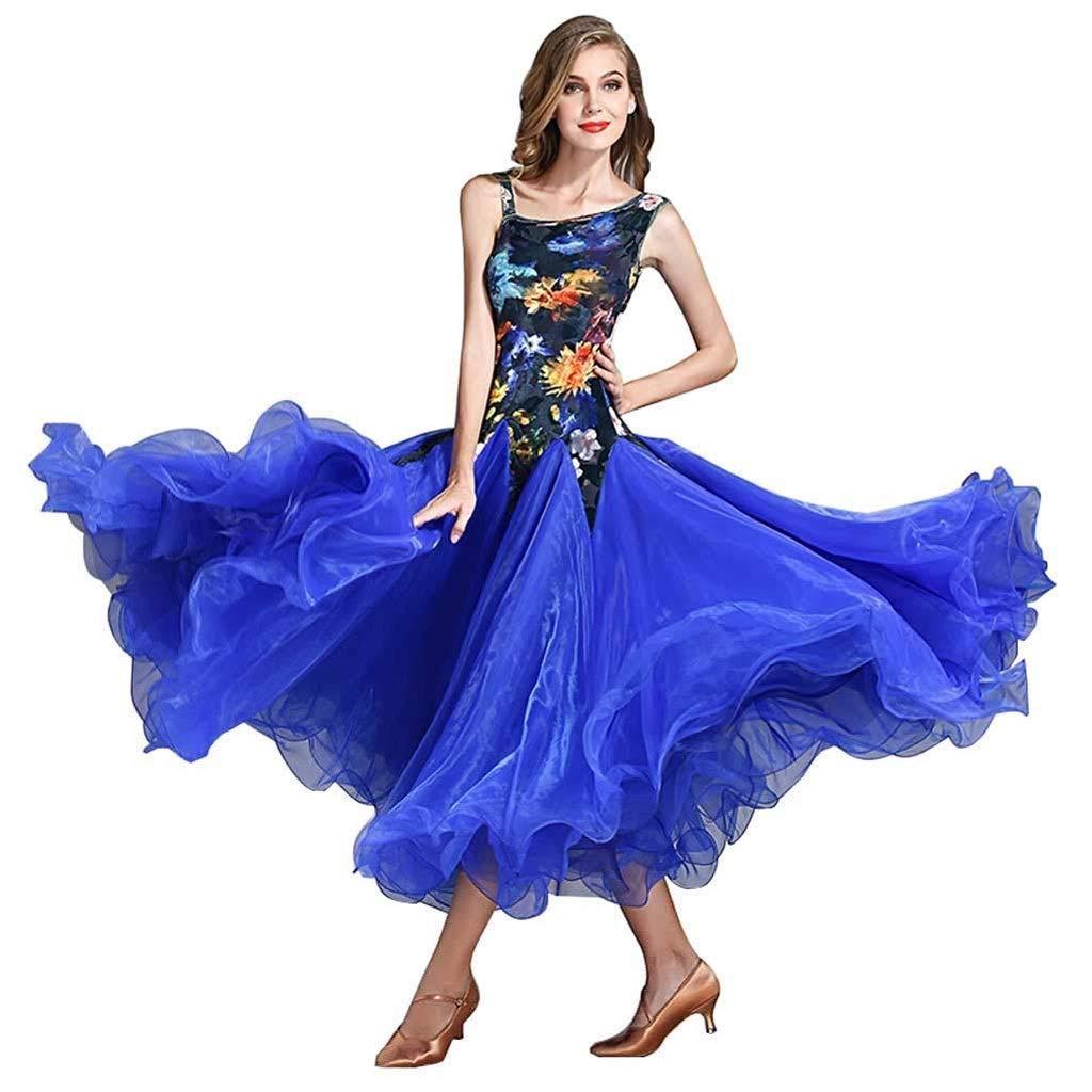 新しい到着 大人のためのダンス舞踊衣装全国標準の社交ダンスの競争のスーツ現代のワルツタンゴダンス斜めショルダーベルベットノースリーブのドレス B07Q5FC7G9 XXL|ブルー XXL|ブルー ブルー ブルー B07Q5FC7G9 XXL, 入沢土産店:727b625a --- a0267596.xsph.ru