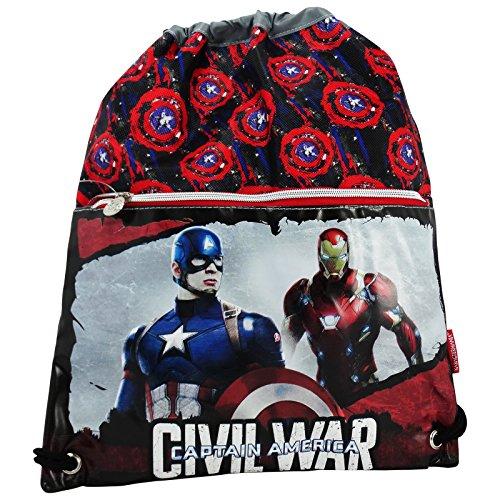 Marvel Capitan America Civil War Sacco Scuola Tempo Libero Multiuso