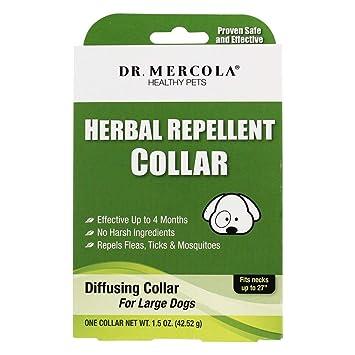 Repelente de hierbas cuello Dr. Mercola repele pulgas, garrapatas y mosquitos: Amazon.es: Productos para mascotas