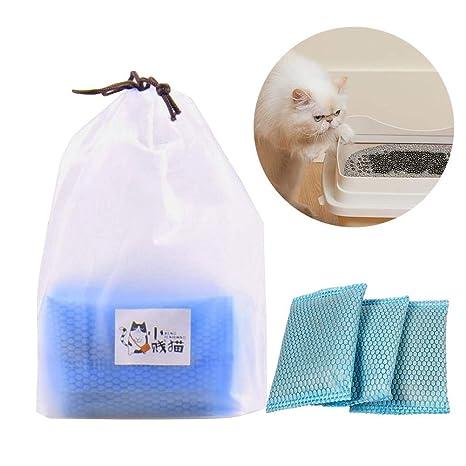 Augproveshak - Juego de 3 arenero de carbón Activado para desodorización de Gatos, para desodorizar