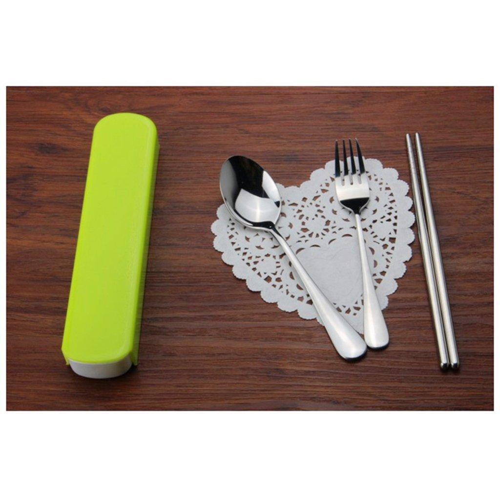 Tenedor Cuchara Palillos Conjunto de Picnic Viajes Acampar Cuberter/ía Acero Inoxidable