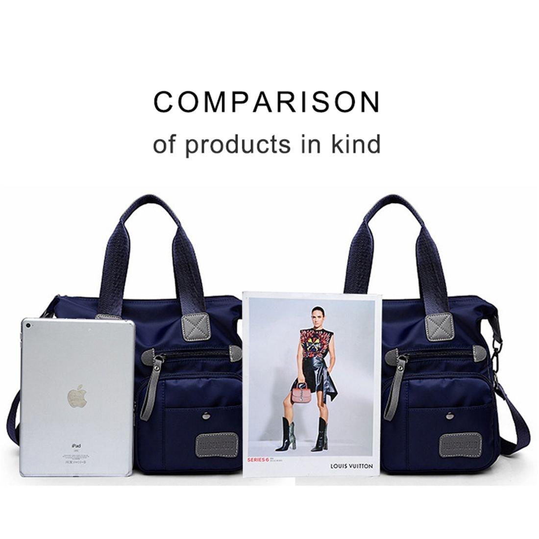 56e4a5b7a0 Amazon.com  REFURBISHHOUSE blue New Ladies Fashion Waterproof Oxford Tote  Bag Casual Nylon Shoulder Bag Mummy Bag Large Capacity Canvas Bag  Shoes