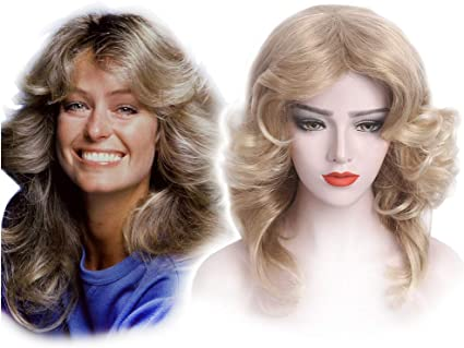 Women�s Costume Accessory Feathered �70s Wig Blonde