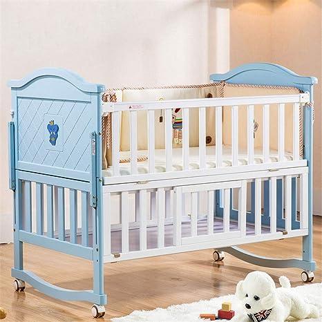 Amazon.com: WDXIN - Cama para cuna de bebé, polea de madera ...