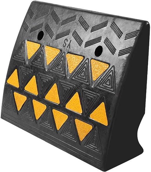 2 St/ück Rampe aus Gummi mit reflektierender Folie 49 x 37 x 15,5 cm Rampe aus Gummi f/ür Rollstuhl Rampe f/ür Auto rutschfest