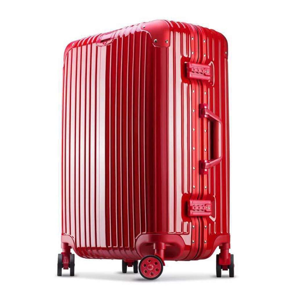動かされた小屋の旅行袋のスーツケースのトロリー手の荷物、手の小屋の荷物、オックスフォードの荷物の錠が付いている拡張可能なスーツケースのスピナーを運びなさい C Red B07QY7H2FM