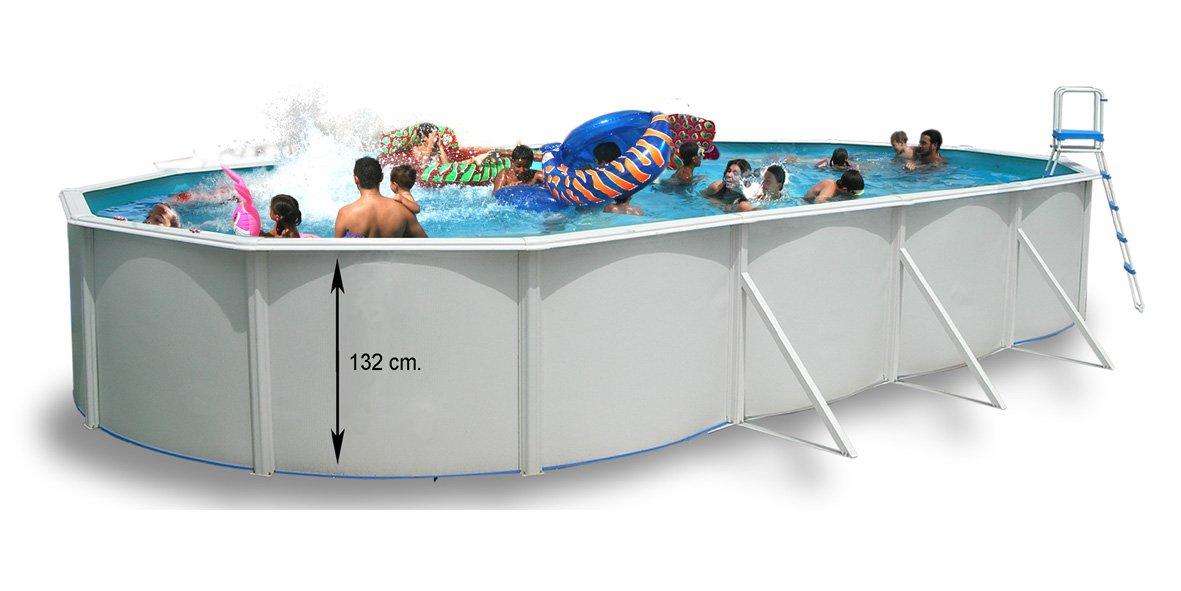 TOI - Piscina MAGNUM OVALADA 550x366x132 cm Filtro 6 m³/h: Amazon ...