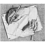 M.C. Escher (Drawing Hands) Art Poster Print - 26x22 Art Poster Print by M. C. Escher, 26x22 Art Poster Print by M. C. Escher, 26x22