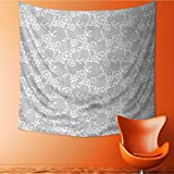 VROSELV Wall Tapestries Islamic Inspired Oriental Turkish Lacewith Traditial Impressi Tapestry Table Cover Bedspread Beach Towel Lattern/51W x 51L INCH
