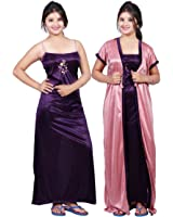 Bailey Women's Satin Night Dress (Pack of 2)